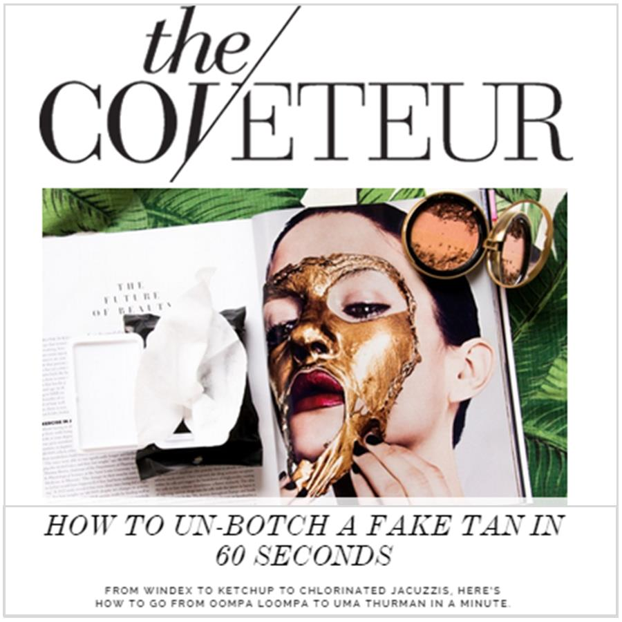 Self Tanner Quick Fixes - Katie Quinn's supermodel tanning tips featured in The Coveteur!  More at KonaTans.com #beautytips #makeupartist #tanning #contouring