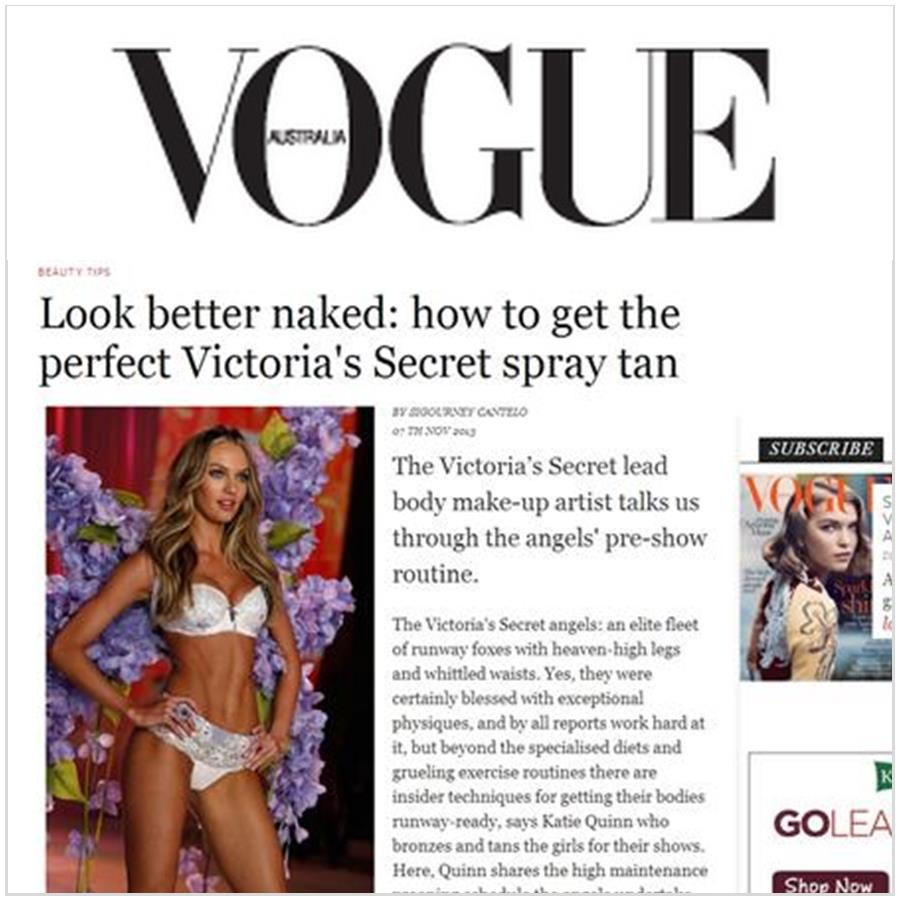 Spray Tan Contouring - Katie Quinn's supermodel tanning tips featured in Australian VOGUE!  More at KonaTans.com #beautytips #makeupartist #tanning #contouring